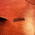 Eyelashes on my bedside table
