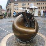 Planet statue