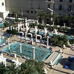 Beautiful Caesar's pool area