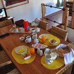 Breakfast served in Pukara Wasi