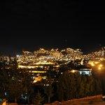 View from Pukara Wasi at night
