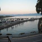 Vistas desde uno de sus balcones, al Lago di Garda