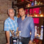 Bar manager Manny Contreras and yours truly