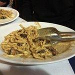 Primi piatti (pasta with eggplant)