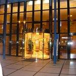 la entrada en hotel
