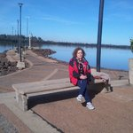 Increíble costanera sobre el río Uruguay
