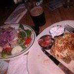Pub Salad and Quesadilla