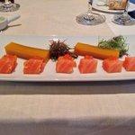 Saumon très bon, mais avec une gelée de mangue bizarre !!!