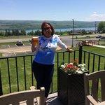 Enjoying a beer at Starkeys - it nice!