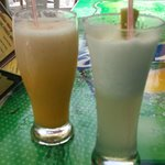 Amazing smoothies at Chicken George at Accra Beach