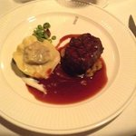 filet of beef and ravioli
