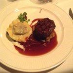 filet of beef and ravioli