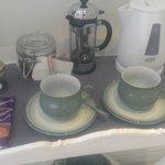 In room tea, coffee, and fresh homemade treats!