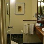 bathroom - toilet is behind the short wall
