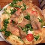 Salmon and mascarpone pizza £12.95 great value!