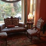 front parlor with view to front yard