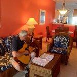 Living Room, Dinette, Breakfast Bar & Small Kitchen.