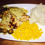 9.29 for dijon chicken with mushrooms and 2 sides