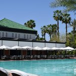 Piscina do hotel La Mamounia-Marrakech