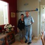 Dan and Bev in Liz's dining room