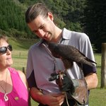 Dave from WINGSPAN spending time with mySponsored Falcon,Bindy