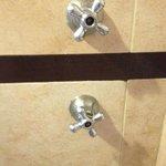 shower handles missing temp gauges