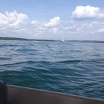 On the lake with Branson Belle Steam Boat in the background!