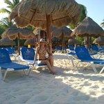 En el area platinim de la playa