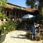 The courtyard - great place for breakfast and mojitos