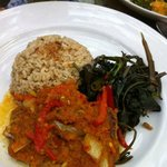 My brown rice with Ikan Rica-Rica. I love the moist and flaky fish wih the spices. Really delici