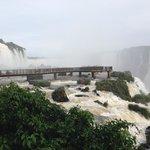 Falls Viewing Platform Brazil Side of Falls