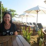 beachfront breakfast area