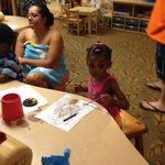 My Daughter in Cub Club room