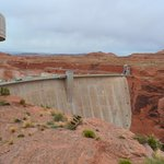 Glen Canyon Dam from just outside the visitors center