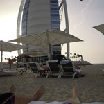 view from our beach chairs on the hotels private beach