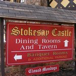 Stokesay Castle Sign