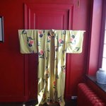 One of several display kimono