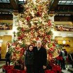 Davenport hotel at Christmas
