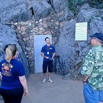 Tour guide at Entrance door to Cavern