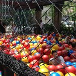 huge outdoor ballpit - great for even the big kids (like Daddy)