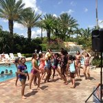 kids dance event at Weston poolside on Memorial Day 2014