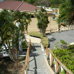 Walkway to beach, pool and restaurant