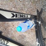 Another water refill on returning to the bike. Service!