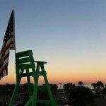 Sunrise with the Dunsvant Decor, TRiTON design lifeguard chair. #isupportblob
