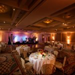 Ballroom setup for wedding