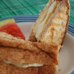 So good breakfast with chesse,aggs sandwich