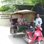 Mr G and his tuk tuk, always on time