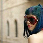 La Carmina shops for sunglasses in the fashionable stores in the Mamilla mall, connected to the