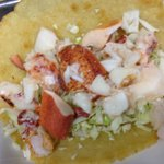 Lobster taco is a little too plain