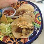 variety of tacos-plate. forget the name.